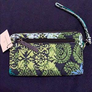 Vera Bradley Fabric Pattern Wristlet with Keychain